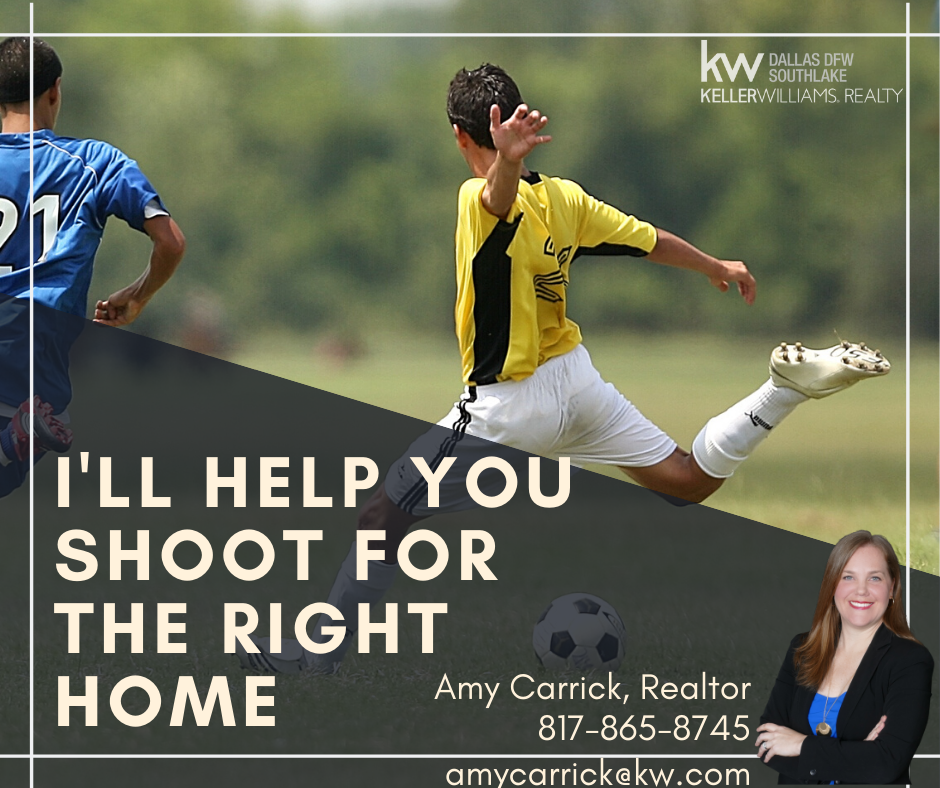 Amy Carrick, Realtor. I'll help you shoot for the right home.