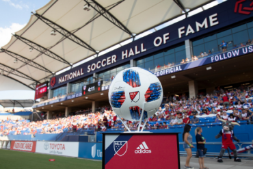 The Hall of Fame Stand and the 2019 MLS ball