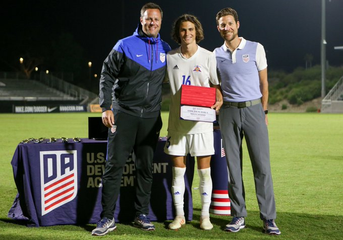 Bailey Sparks DA U17 Golden Ball