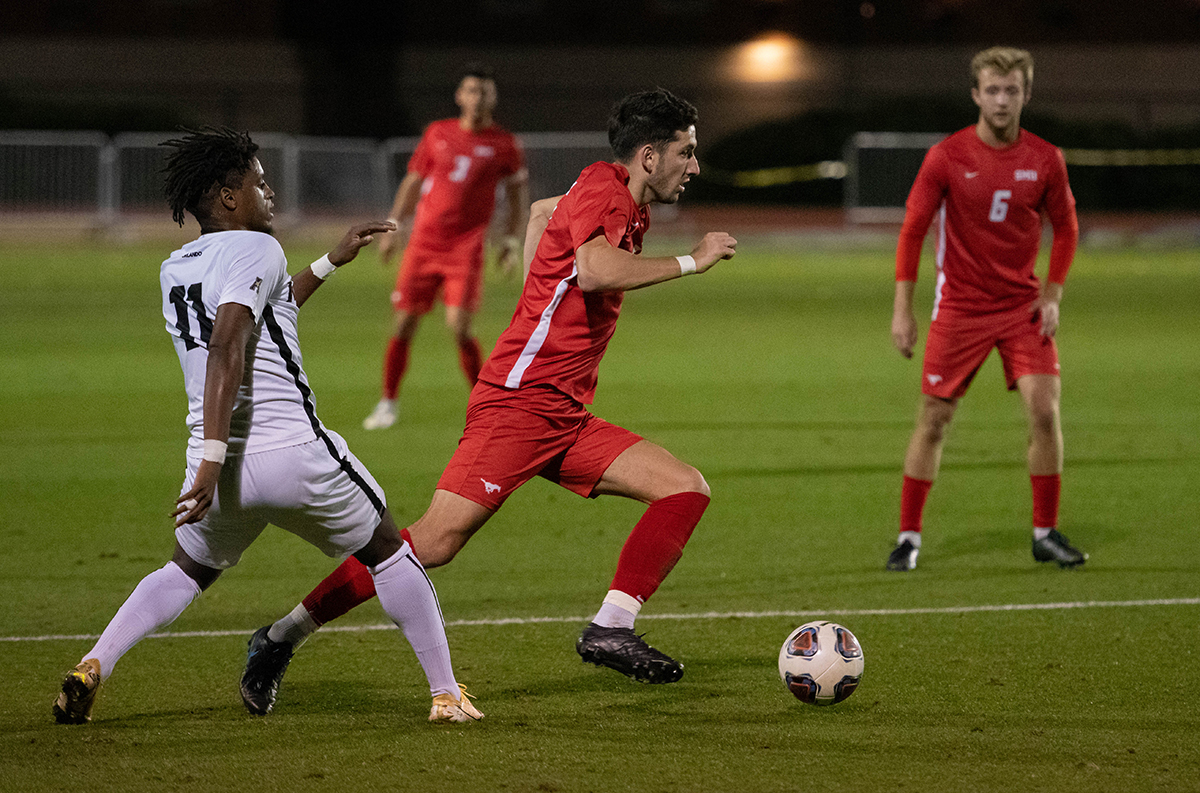 NCAA Soccer Tournament round of 16 game between SMU and UCF at Westcott Field