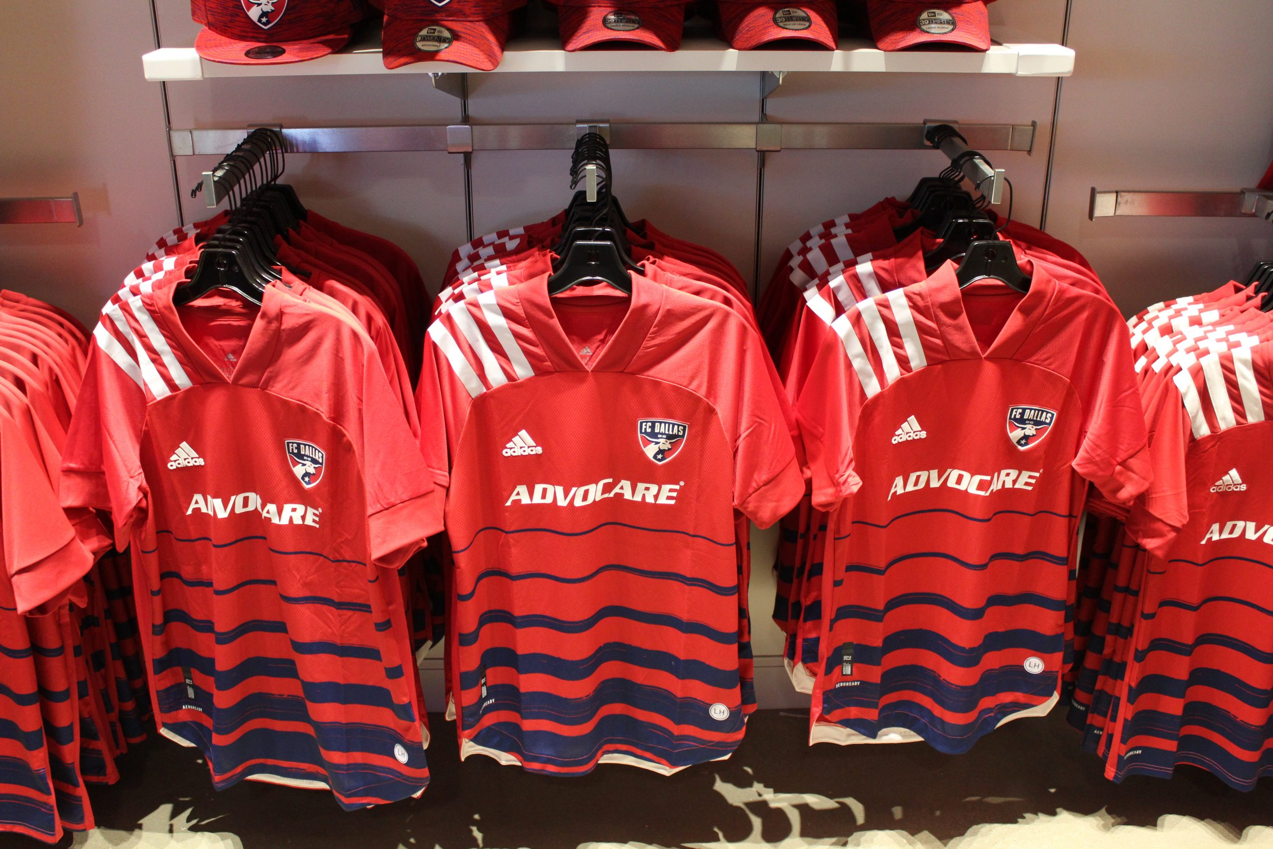 The 2020 'Legacy Kit' goes on sale at Soccer90 in Frisco (Dan Crooke)