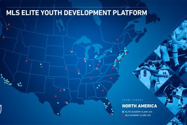 MLS Elite Youth Player Development Platform Map (MLS Communications)