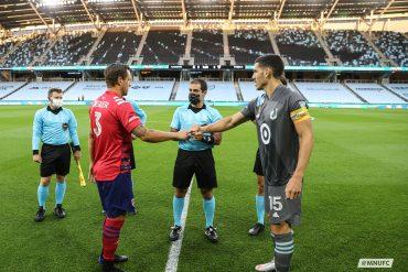 Captain handshake FCD at MNUFC 9-9-20