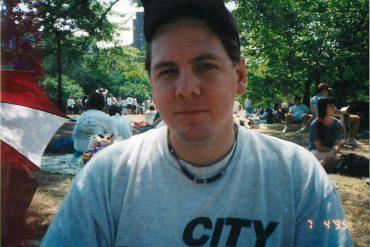 Buzz Carrick in Boston, 1995.