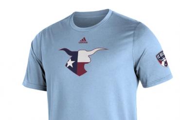 NEW powder blue FC Dallas Adidas Kickoff Tee