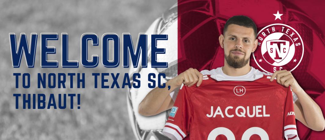 North Texas SC Signs Forward Thibaut Jacquel