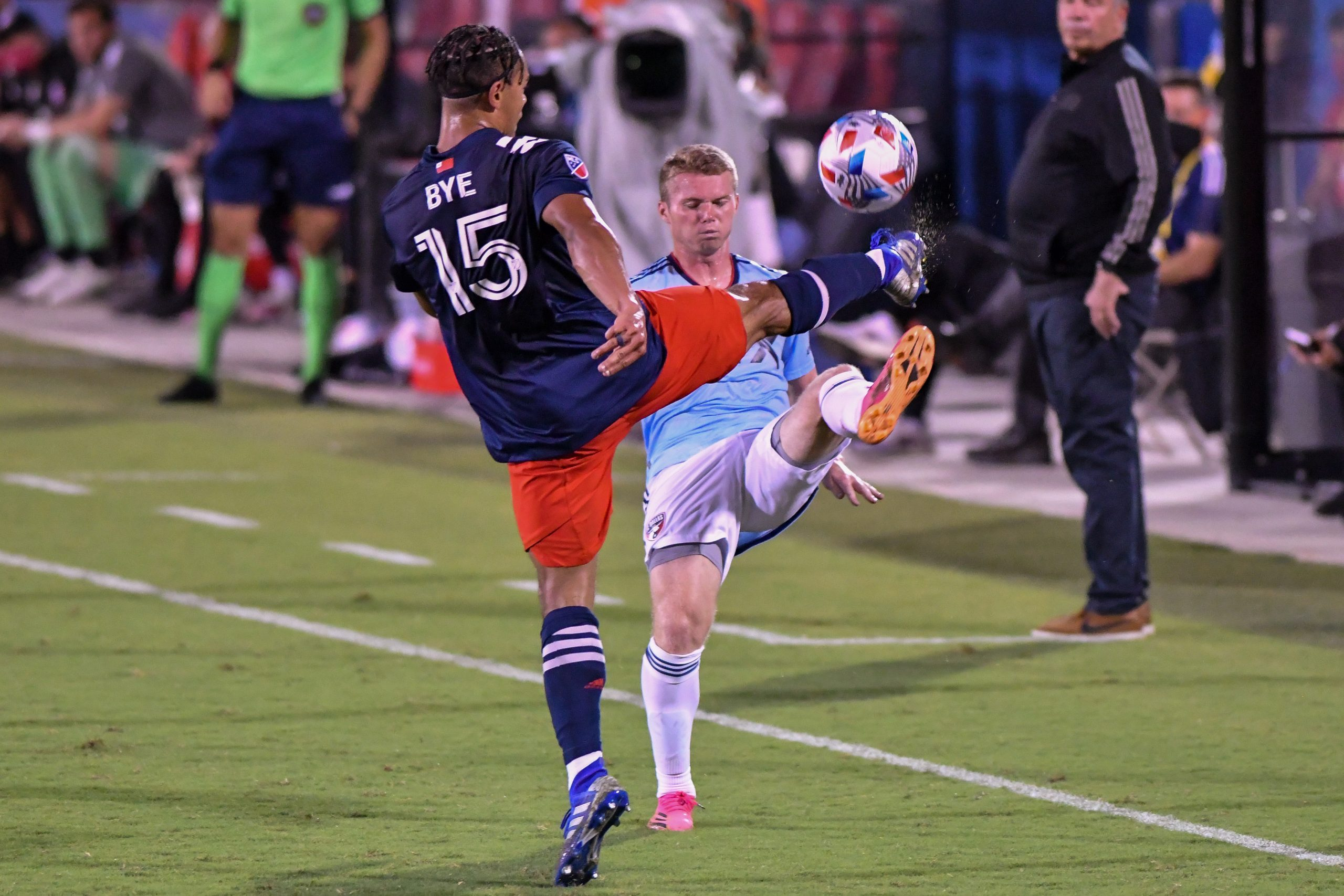 in the MLS matchup against New England Revolution.