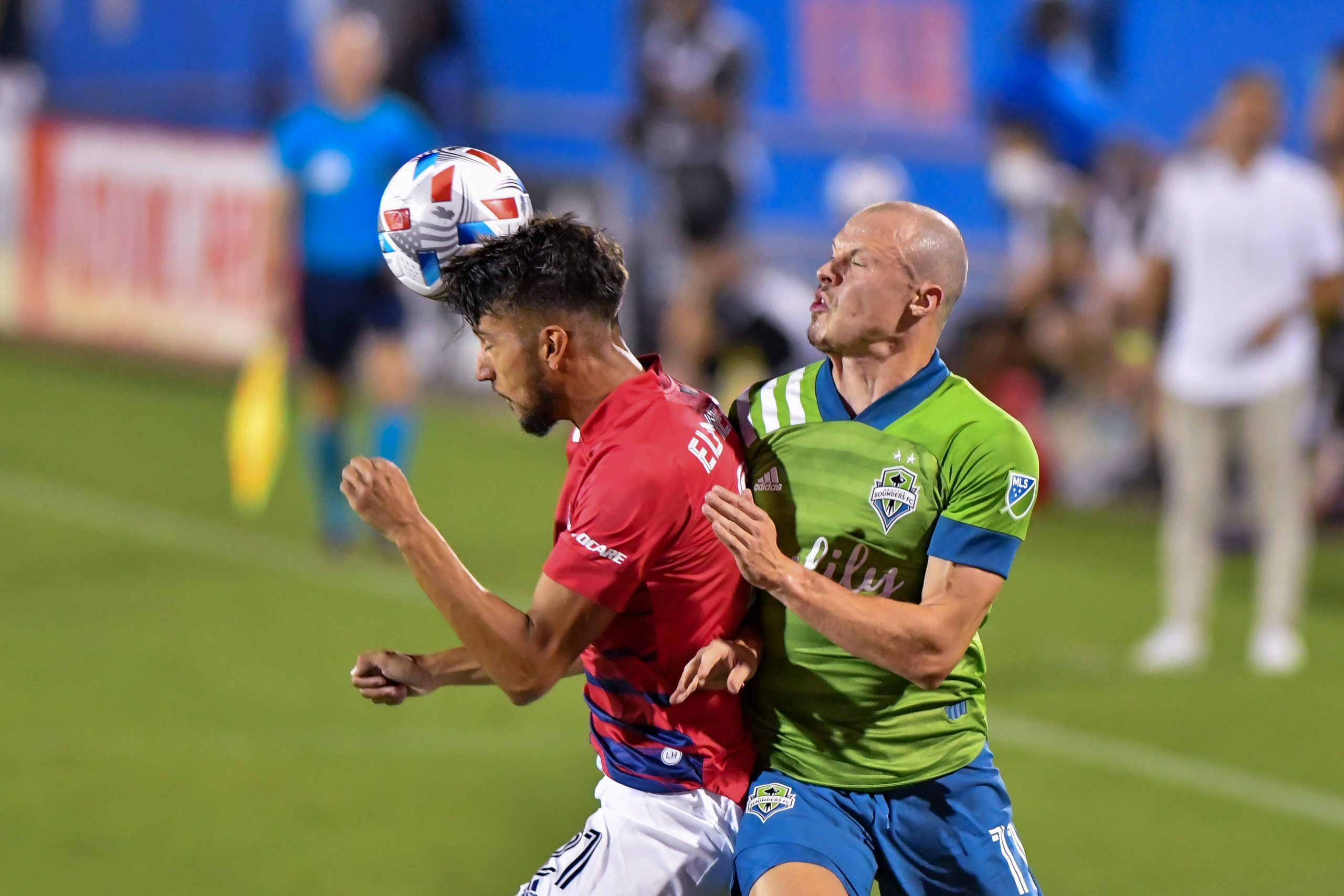 in the MLS match between FC Dallas and Seattle Sounders, August 18, 2021.